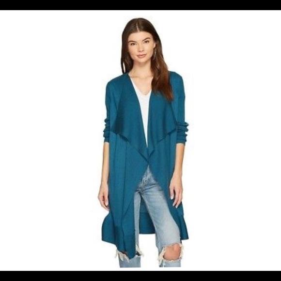 Kensie Sweaters - Kensie Draped Open Front Cardigan- ChicEwe